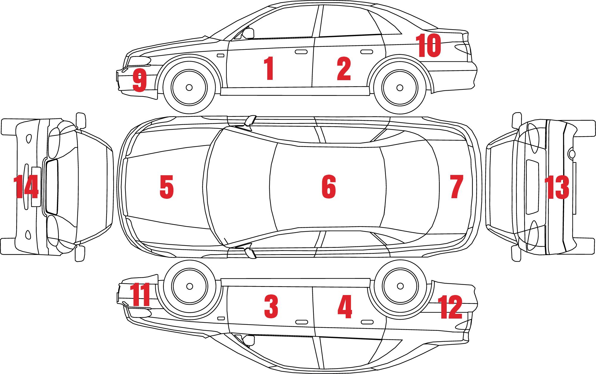 Car Damage Areas